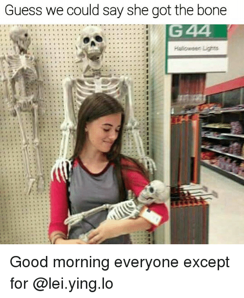 Memes, Good Morning, and Good: Guess we could say she got the bone Good morning everyone except for @lei.ying.lo