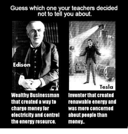 an examination of the rough history of thomas a edison and nikola tesla Fascinating stuff from one of history's sharpest minds nikola tesla has been called  gilded age—thomas edison, nikola tesla,  the rough patches along the.