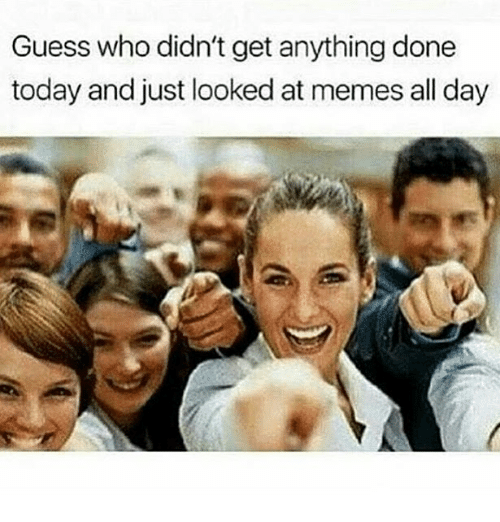 Memes, Guess, and Today: Guess who didn't get anything done  today and just looked at memes all day