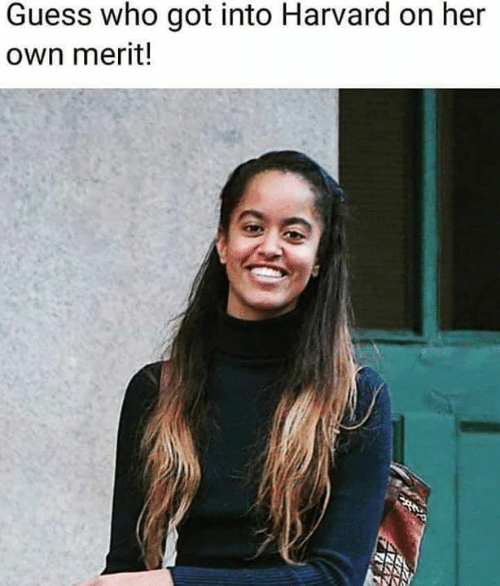 Memes, Guess, and Harvard: Guess who got into Harvard on her  own merit!
