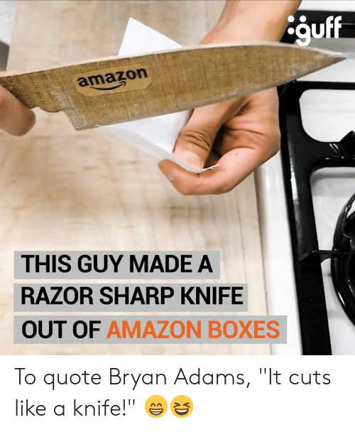 Guff Amazon THIS GUY MADE a RAZOR SHARP KNIFE OUT OF AMAZON