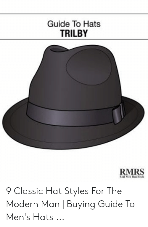 85eba862c Guide to Hats TRILBY RMRS Real Men Real Style 9 Classic Hat Styles ...