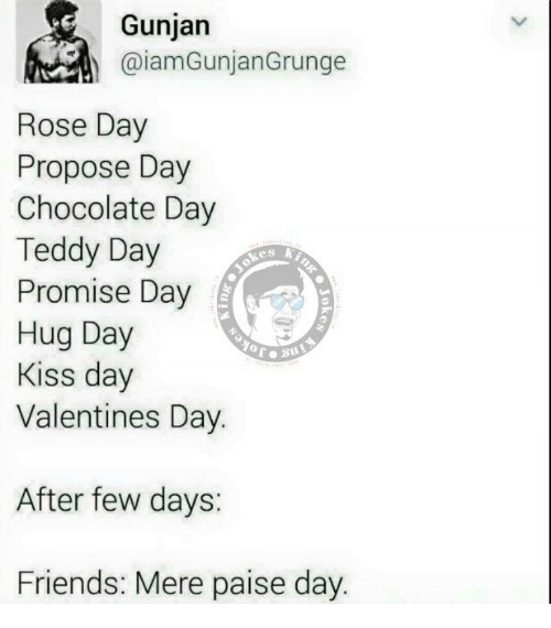 Gunjan Rose Day Propose Day Chocolate Day Teddy Day E S Promise Day