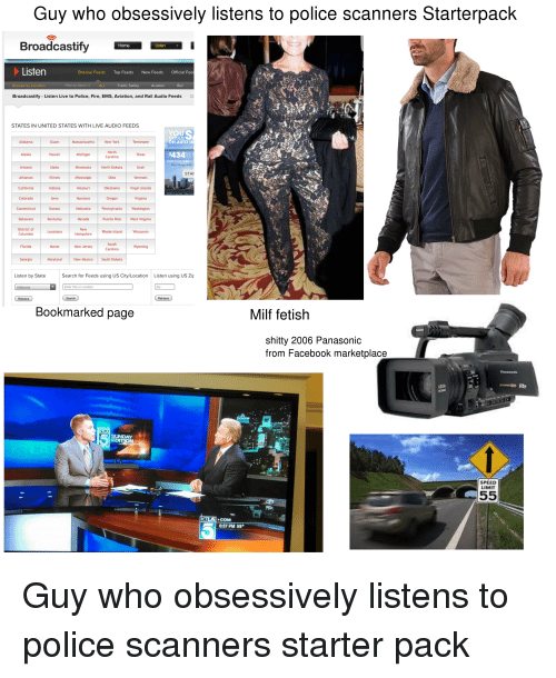 Guy Who Obsessively Listens to Police Scanners Starterpack