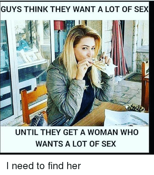 I need a woman for sex