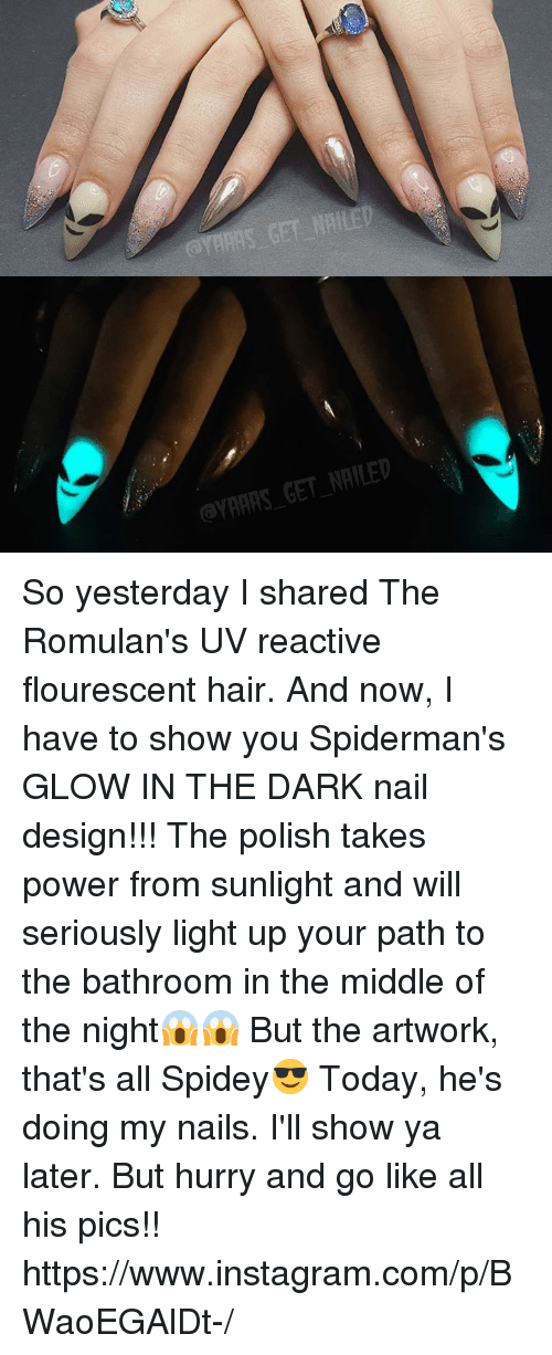 Instagram Memes And Hair Gyaars Get Nailed So Yesterday I Shared The Romulan S