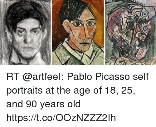 GYHUMAN RT Pablo Picasso Self Portraits at the Age of 18 ...