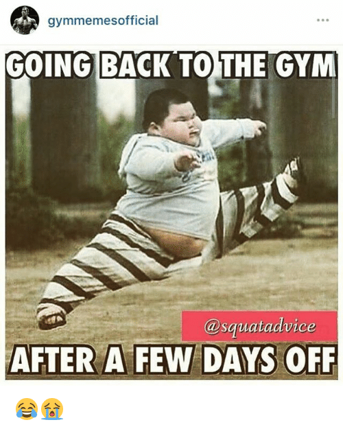 Gyms and Few: gymmemesofficial  GOING BACK TO THE GYM  @sgiat advice  AFTER A FEW DAYS OFF 😂😭