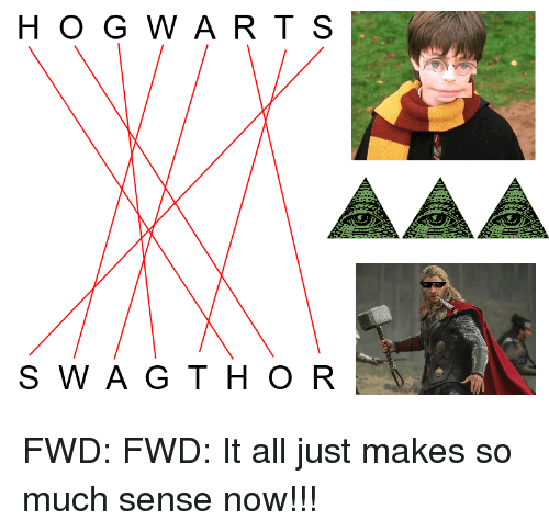 Wart, All, and Now: H O G WART S  S W AG TH O R <p>FWD: FWD: It all just makes so much sense now!!!</p>
