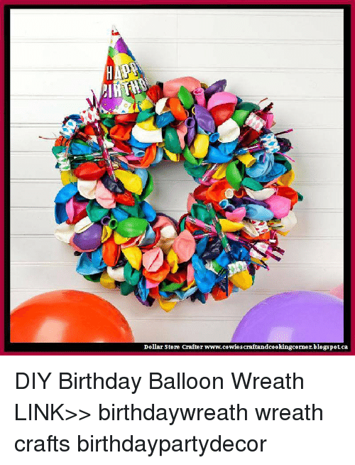Memes Blogspot And Dollar Store HA Crafter Cowiescraftandcookingcorner DIY Birthday Balloon