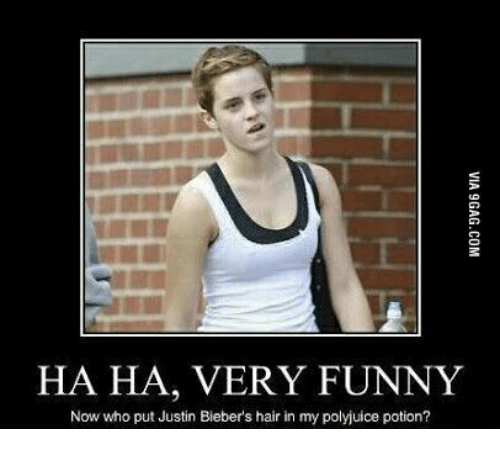 ha ha very funny now who put justin biebers hair 14236187 ha ha very funny now who put justin bieber's hair in my polyjuice