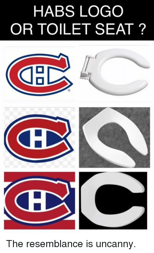 Remarkable Habs Logo Or To Ilet Seat The Resemblance Is Uncanny Short Links Chair Design For Home Short Linksinfo
