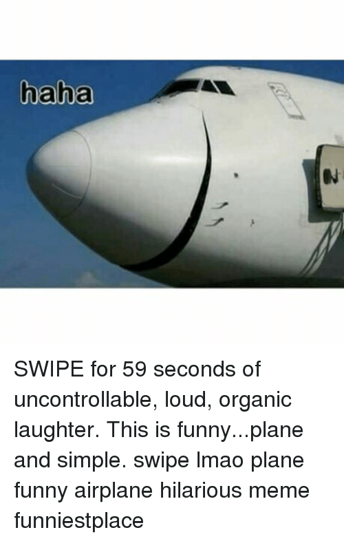 haha swipe for 59 seconds of uncontrollable loud organic laughter 21748151 ✅ 25 best memes about funny plane funny plane memes,Funny Airplane Memes