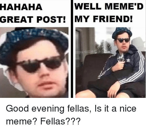 Hahaha well memed great post my friend good evening fellas is it a meme good and dank memes hahaha well memed great post my friend altavistaventures Images