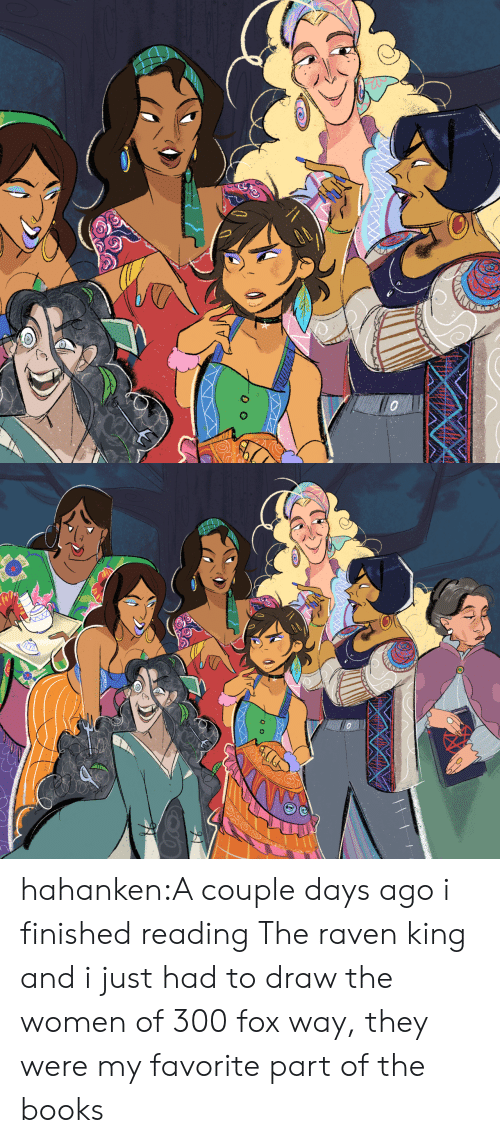 Books, Target, and Tumblr: hahanken:A couple days ago i finished reading The raven king and i just had to draw the women of 300 fox way, they were my favorite part of the books
