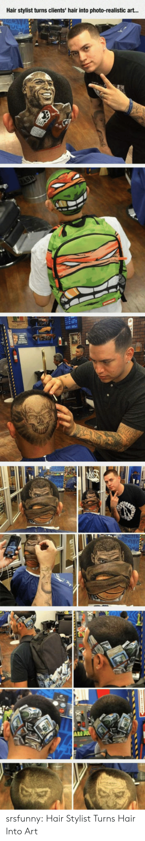 Tumblr, Blog, and Hair: Hair stylist turns clients' hair into photo-realistic art...  ARE srsfunny:  Hair Stylist Turns Hair Into Art