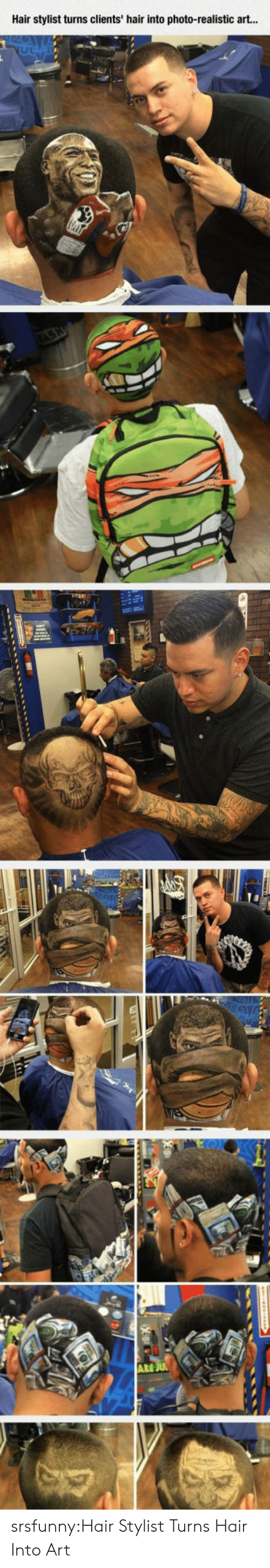 Tumblr, Blog, and Hair: Hair stylist turns clients' hair into photo-realistic art...  ARE srsfunny:Hair Stylist Turns Hair Into Art