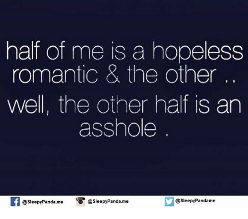 What does the term hopeless romantic mean