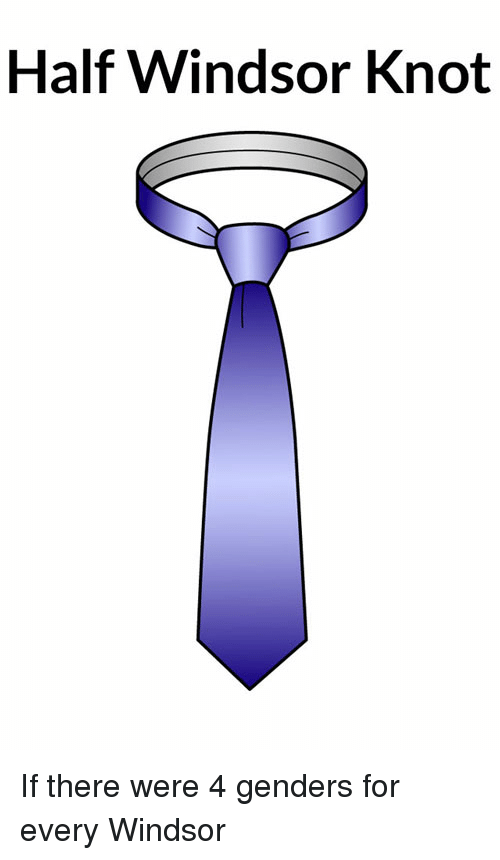 Half Windsor Knot If There Were 4 Genders For Every Windsor