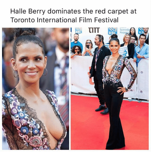 Memes, Halle Berry, and Toronto: Halle Berry dominates the red carpet at  Toronto International Film Festival  Somedat  RB