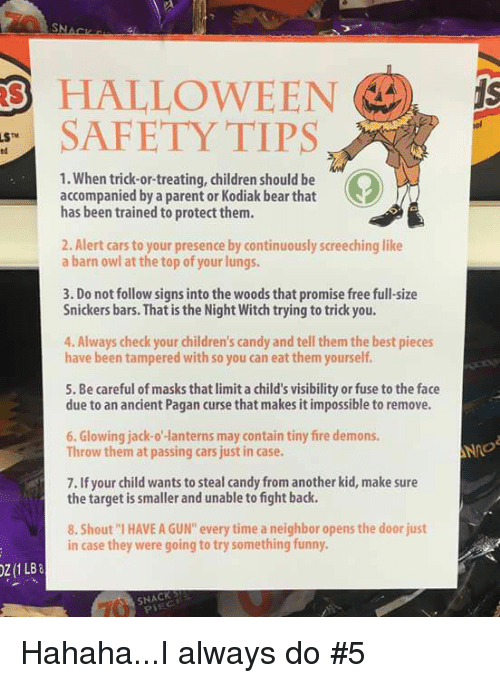 candy children and guns halloween safety tips 1 when trick or