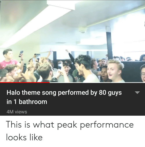 Halo Theme Song Performed by 80 Guys in 1 Bathroom 4M Views
