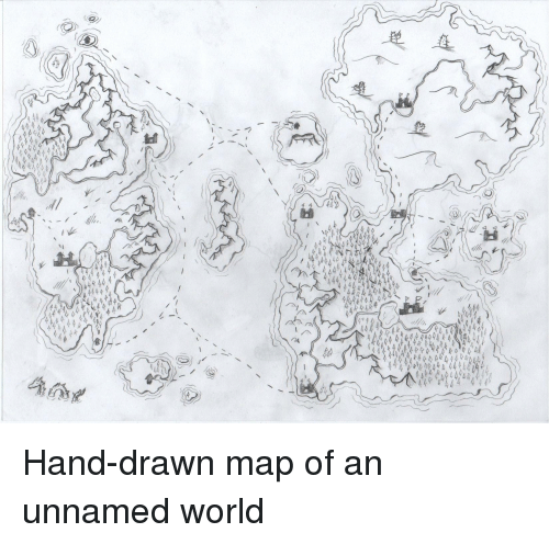 Hand Drawn Map Of The World.Hand Drawn Map Of An Unnamed World World Meme On Me Me
