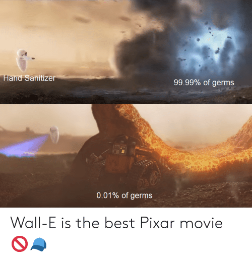 Hand Sanitizer 9999 Of Germs 001 Of Germs Wall E Is The Best