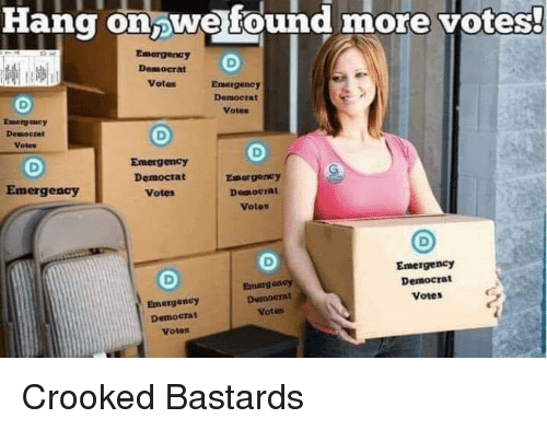 Emergency, Democrat, and More: Hang onwe found more votest  Emergency  Democrat  Votes  Emergency  Democrat  Votes  Voten  Emergency  Democrat  Votes  Emergeney  Democrat  Votes  Emergency  Emergency  Democrat  Votes  Emergeney  Democra  Votes  Damocrat  Votes