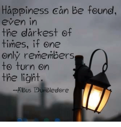 3a0189947 Dumbledore, Happiness, and Light: Happiness can be found, even in the  darkest