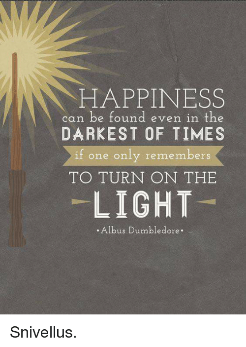 f2727f0da Dumbledore, Memes, and Turn on the Lights: HAPPINESS can be found even in