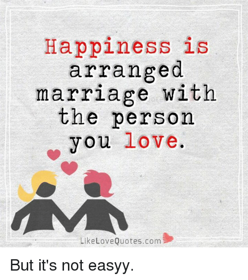 love marriage against arranged marriage