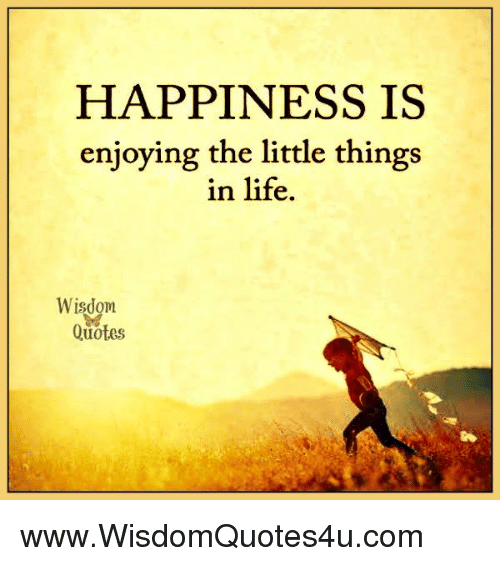 Nice Life, Quotes, And Happiness: HAPPINESS IS Enjoying The Little Things In Life .