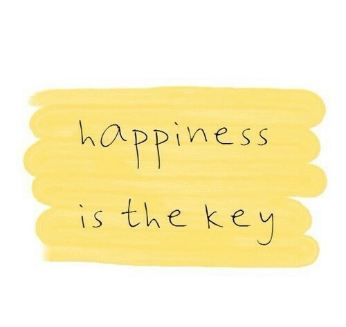 Happiness, Key, and  the Key: happiness  is the key