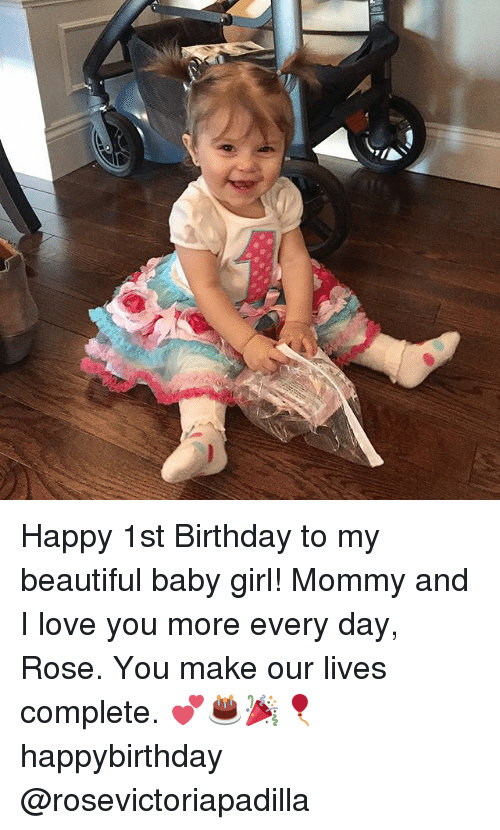 Happy 1st Birthday to My Beautiful Baby Girl! Mommy and I