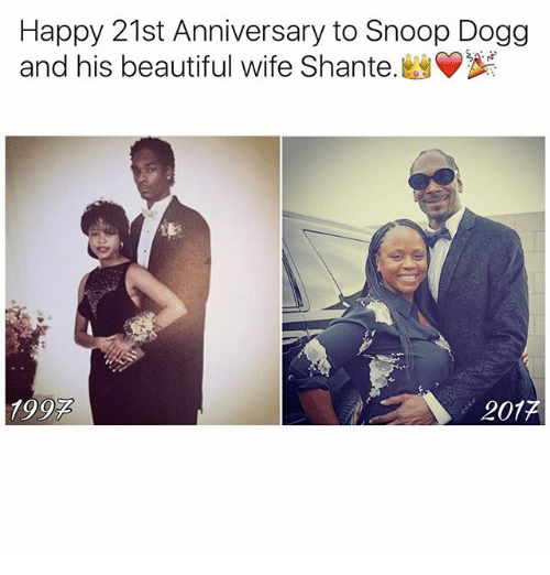 Beautiful, Memes, and Snoop: Happy 21st Anniversary to Snoop Dogg  and his beautiful wife Shante.  1992  201