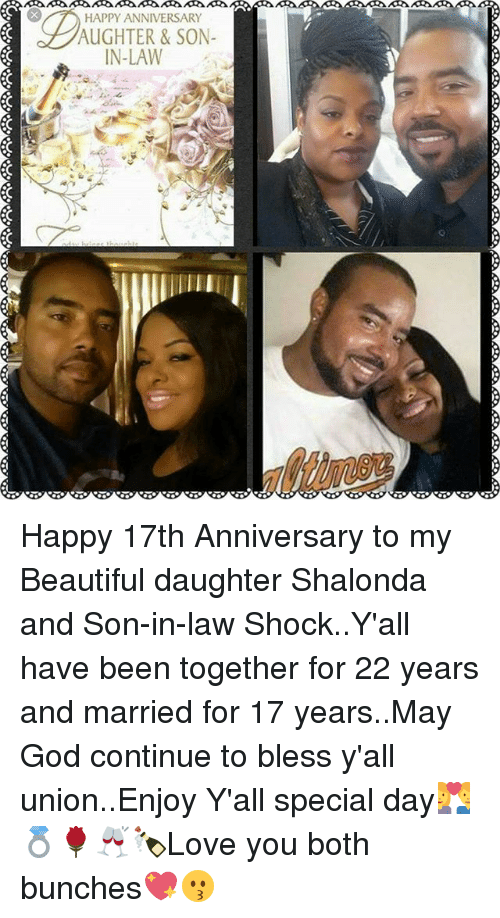 Happy Anniversary Aughter Son In Law Happy 17th Anniversary To My