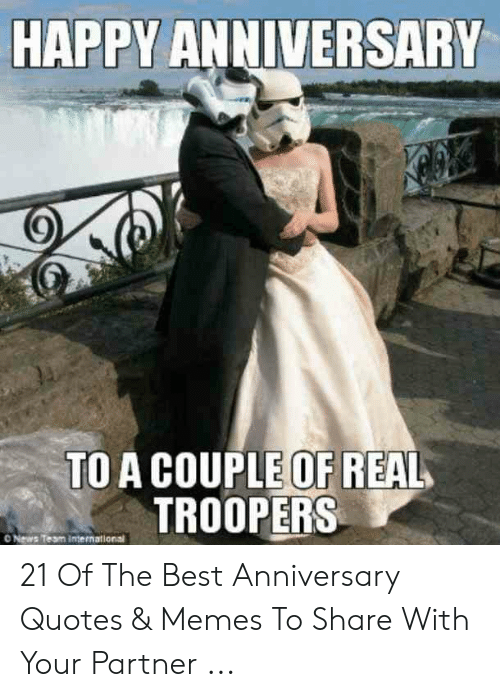 happy anniversary to a couple of real troopers o news team