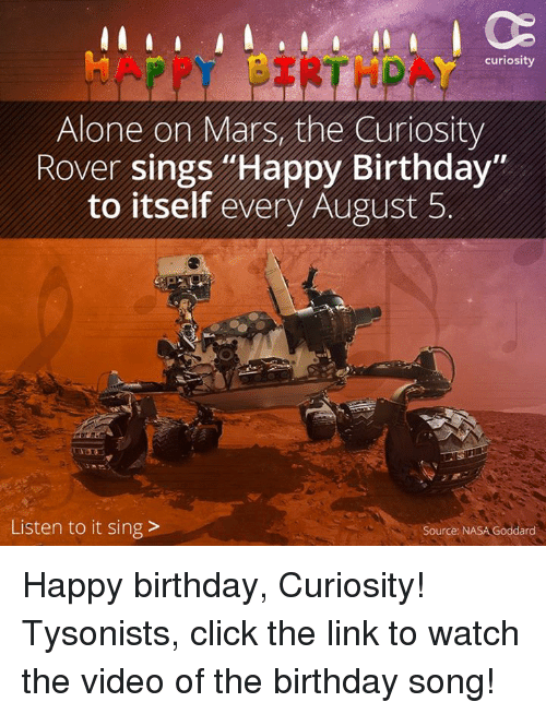 Happy Birthday Alone On Mars The Curiosity Rover Sings Happy