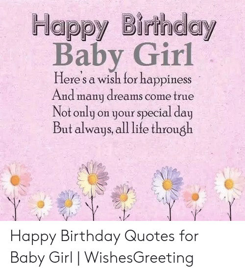 Enjoyable Happy Birthday Baby Girl Lere S A Wish Tor Happiness And Many Personalised Birthday Cards Bromeletsinfo