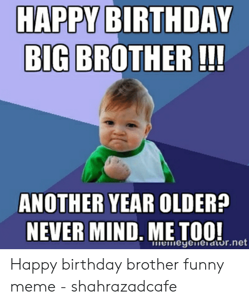 Happy Birthday Big Brother Another Year Never Mind Metoonot