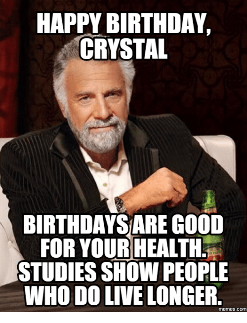 happy birthday crystal funny