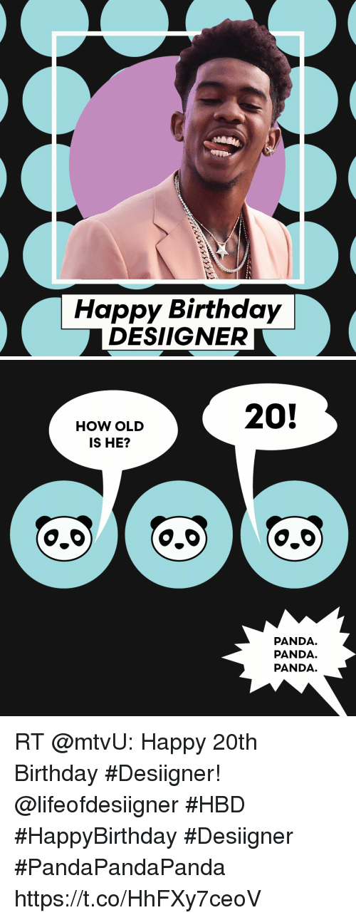 Happy Birthday Designer How Old Is He 00 20 Panda Panda