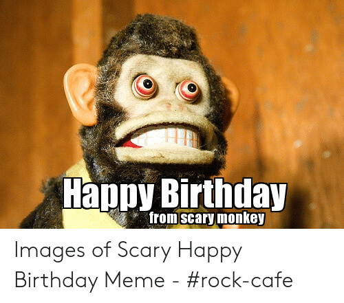 Birthday, Meme, and Happy Birthday: Happy Birthday  from scary monkey Images of Scary Happy Birthday Meme - #rock-cafe