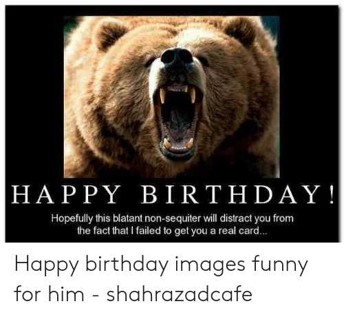 HAPPY BIRTHDAY! Hopefully This Blatant Non-Sequiter Will