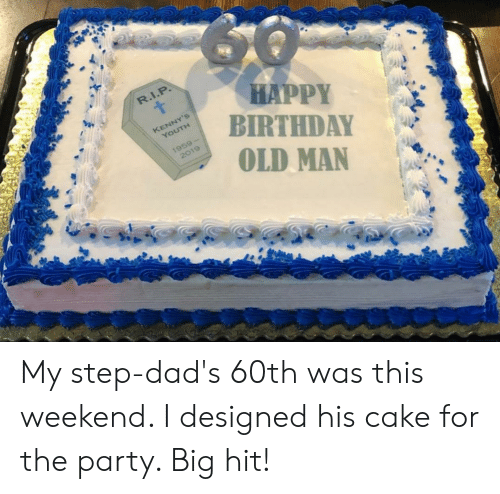 Magnificent Happy Birthday Old Man My Step Dads 60Th Was This Weekend I Funny Birthday Cards Online Fluifree Goldxyz