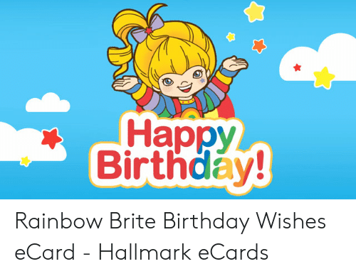 Happy Birthday Rainbow Brite Wishes ECard