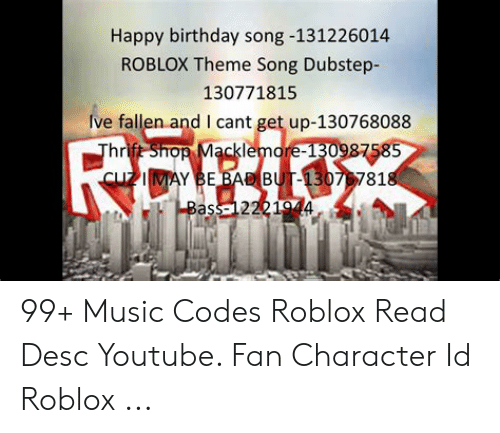 Roblox Song Id Codes Die A Happy Man Roblox Codes For Robux