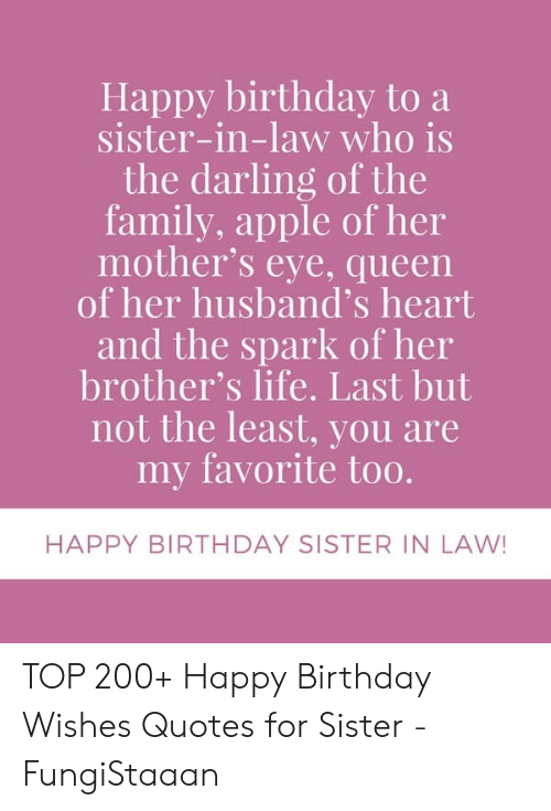 Happy Birthday to a Sister-In-Law Who Is the Darling of the ...