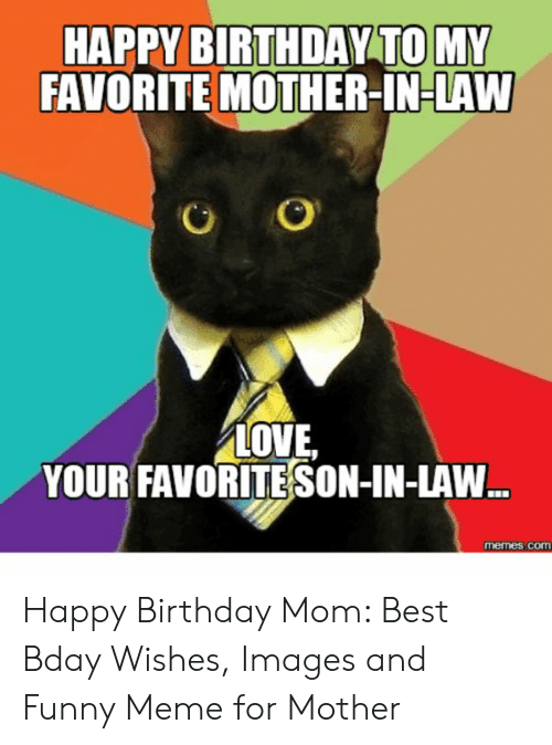 HAPPY BIRTHDAY TO MY FAVORITE MOTHER IN LAW LOVE YOUR FAVORITE SON